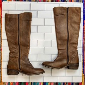 Seychelles Tan Brown Side Zip Knee High Boots